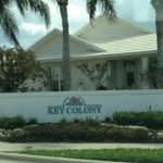 Key Colony Front Entrance Sign