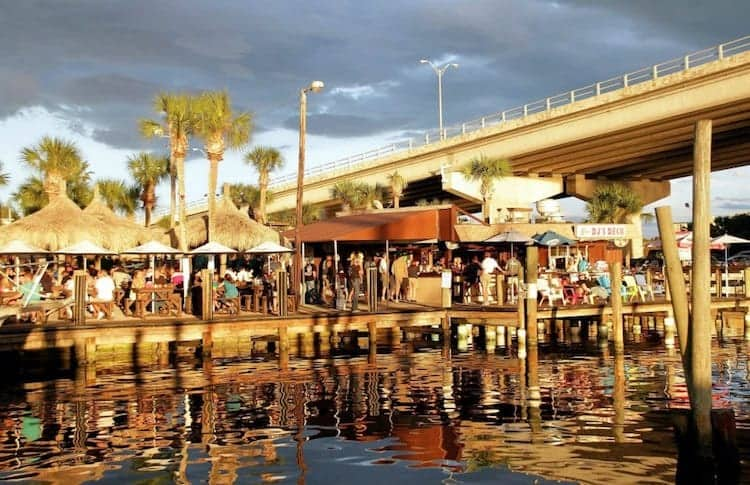 Waterfront dining at DJ's Deck in Port Orange